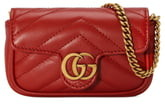 Gucci GG Marmont 2.0 Quilted Leather Coin Purse on a Chain