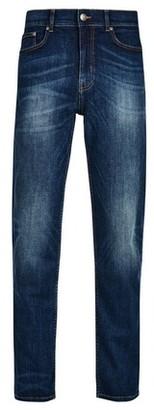 Dorothy Perkins Womens **Burton Mid Blue Wyatt Relaxed Fit Jeans, Blue