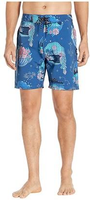 Hurley 18 Phantom Tropic Flash Boardshorts (Mystic Navy) Men's Swimwear