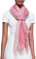 Sofia Cashmere Featherweight Cashmere Dip-Dye Shawl, Rose
