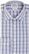 T.M.Lewin Men's Gingham Check Classic Fit Long Sleeve Shirt