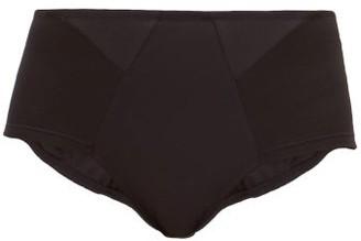 Rossell England - High-rise Cotton-blend Briefs - Womens - Black