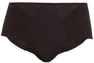 Rossell England - High-rise Cotton Briefs - Black