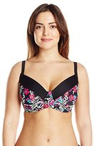 Jessica Simpson Women's Plus-Size It Girl Underwire Bikini Top