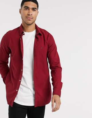Tommy Hilfiger slim fit classic logo shirt in red