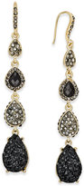 INC International Concepts Gold-Tone Glitter Linear Drop Earrings, Only at Macy's