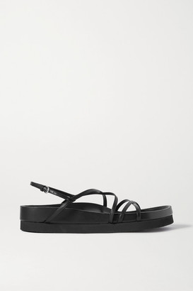 Co Leather Platform Sandals - Black