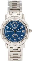 Hermes Women's Vintage Stainless Steel & Navy Clipper MM Watch, 36mm