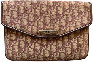 Christian Dior Burgundy Cloth Clutch bags