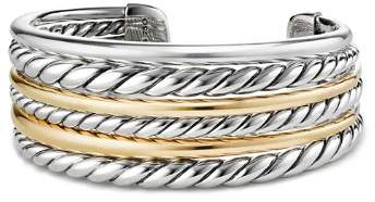 David Yurman Pure Form Cuff Bracelet with 18K Gold