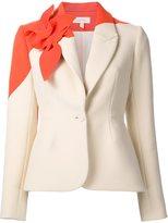 DELPOZO floral embellished fitted blazer