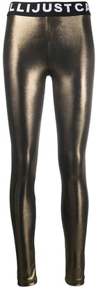 Just Cavalli High-Waisted Metallic Leggings