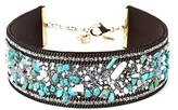 Amrita Singh Negril Turquoise, Crystal & Resin Choker Necklace.