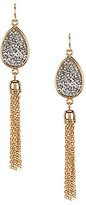 Anna & Ava Fine Rocks Chain-Tasseled Teardrop Earrings