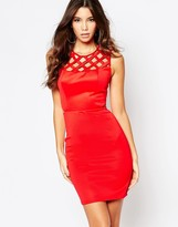Lipsy Fleur East By Cage Body-Conscious Dress With Cut Out Waist Detail