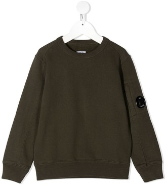 C.P. Company Kids Lens Detail Cotton Sweatshirt