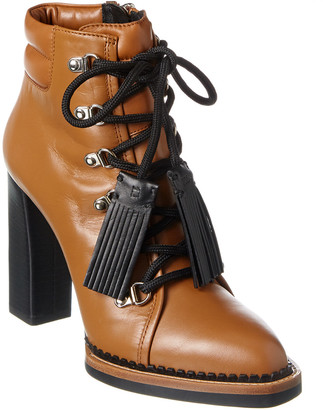 Tod's Leather Lace-Up Bootie