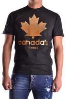 DSQUARED2 Men's Black Cotton T-shirt.