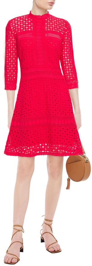 Thumbnail for your product : BA&SH Cotton Lace Mini Dress
