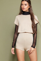 Forever 21 FOREVER 21+ Raw-Cut Layered Romper