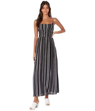 1 STATE 1.STATE Cinched Waist Checker Grid Maxi Dress