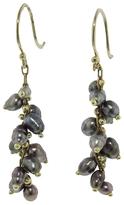 Ten Thousand Things Beaded Spiral Tahitian Pearl Earrings