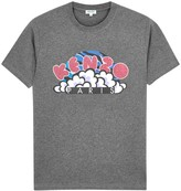 Kenzo Popcorn Grey Printed Cotton T-shirt