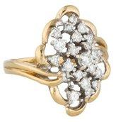 Ring 14K Diamond Cluster