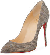 Christian Louboutin Pigalle Follies 100mm Red Sole Pump, Glitter Chain