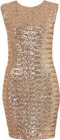 Sequin Cross Back Bodycon Dress By Dress Up Topshop**