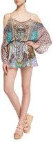 Camilla Long-Sleeve Cold-Shoulder Romper, Yeni Saray