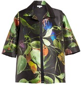 Caroline Rose Caroline Rose, Plus Size Lush & Luminous Printed Party Jacket