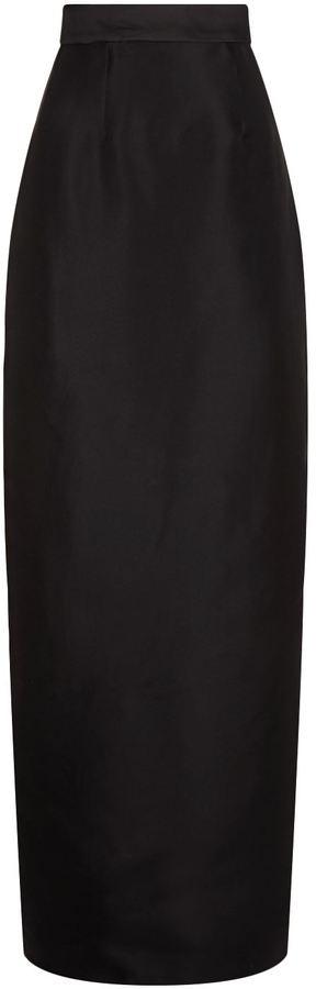 Monique Lhuillier Silk Column Skirt