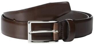 J.Crew New Leather Dress Belt (Black) Men's Belts