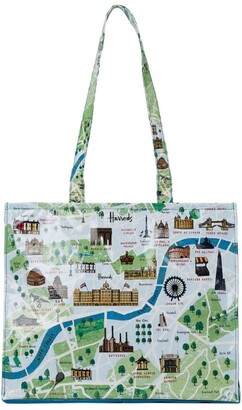 Harrods Large London Map Shoulder Bag