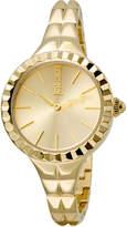 Just Cavalli 34mm Rock Taffeta Bracelet Watch, Yellow Golden