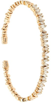 Suzanne Kalan 18kt rose gold Fireworks Flexible Diamond Baguette cuff