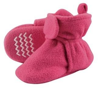Hudson Baby Newborn Girl Cozy Fleece Booties