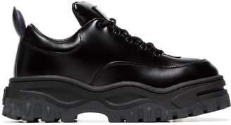 Eytys Black Angel Lift Leather Platform Sneakers