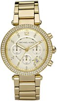 Michael Kors Parker Goldtone Stainless Steel Chronograph Bracelet Watch