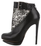 Nicholas Kirkwood Lace-Accented Ankle Boots