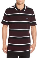 Lacoste Men's 'M.i.f.' Stripe Pique Polo