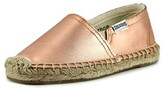 Soludos Original Espadrille Youth Round Toe Leather Pink Espadrille.