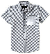 Hurley Big Boys 8-20 Warped Plaid Short-Sleeve Woven Shirt