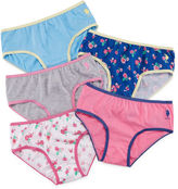 U.S. Polo Assn. 5 Pair Brief Panty Girls