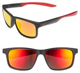 Nike Men's Essential Chaser 59Mm Reflective Sunglasses - Black / Red