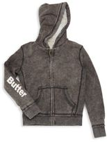 Butter Shoes Girl's Mineral Wash Reversible Hoodie