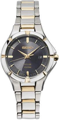 Seiko Women Solar Dress Sport Two-Tone Stainless Steel Bracelet Watch 27mm SUT316