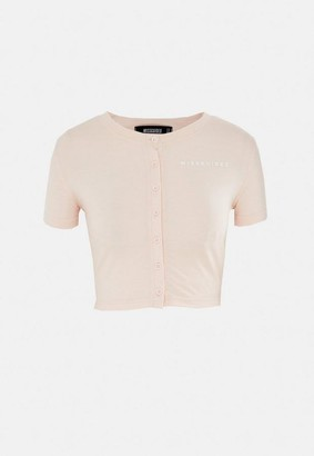 Missguided Button Up Crop Top