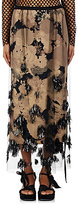 Dries Van Noten Women's Schiller Sequined Tulle Midi-Skirt-Tan, Black